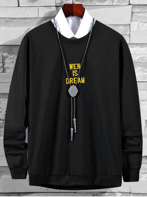 信圖形刺繡外套 - 黑色 S Mobile