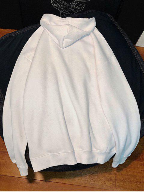 Sudadera con Capucha Casual de Estampado de Dibujo Animado - Blanco 2XL Mobile