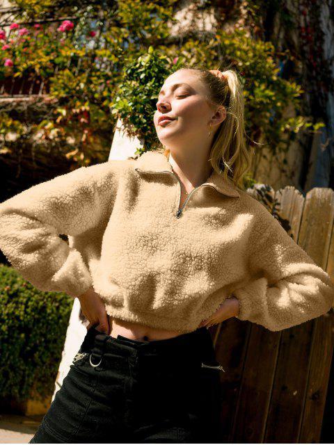 ZAFUL X Camouflagedruck Zopfmuster Sweatshirt Seitlichem Reißverschluss und Abfallender Schulterpartie - Khaki XL Mobile