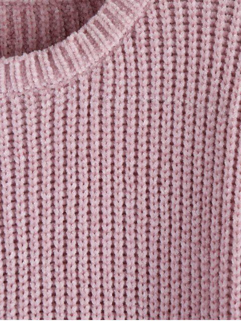 ZAFULJerseyHombro Caido Textura Áspera - Lila L Mobile