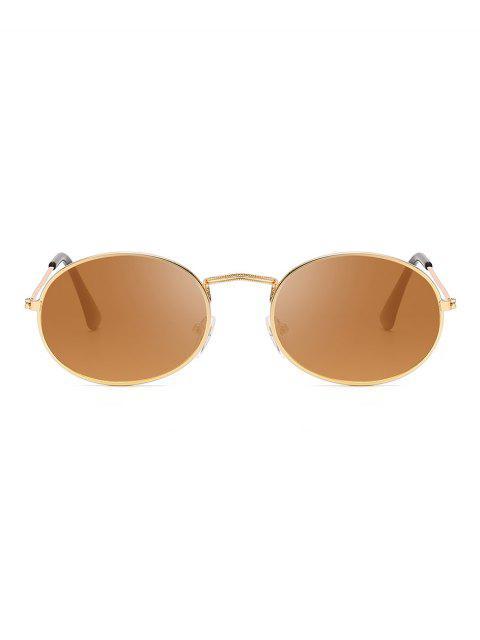 Óculos de Sol Anti UV Oval - Camelo Marrom  Mobile
