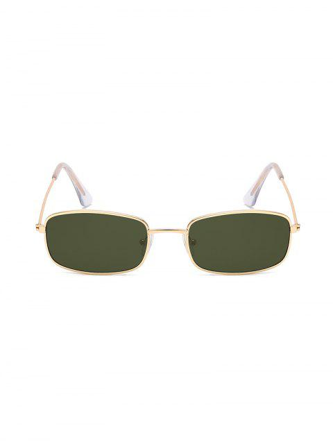 unique Rectangle Metal Lightweight Sunglasses - DARK GREEN  Mobile