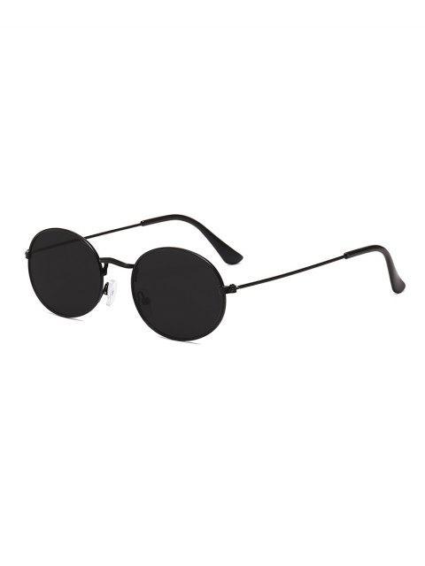 Анти-UV Металлические Овальные Солнцезащитные Очки - Черный угорь  Mobile