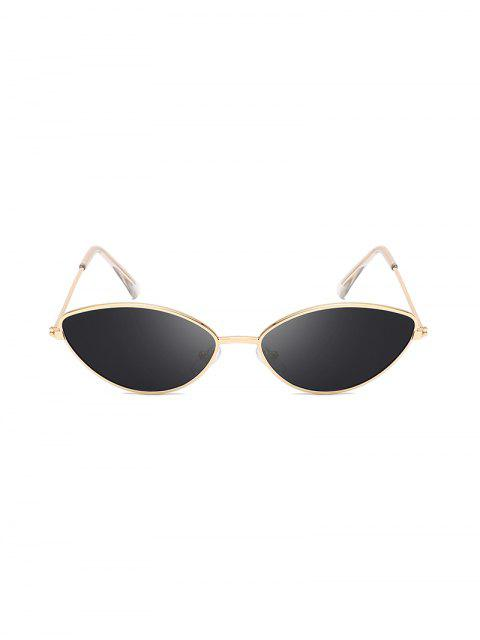outfit UV Protection Kitty Eye Metal Sunglasses - BLACK  Mobile