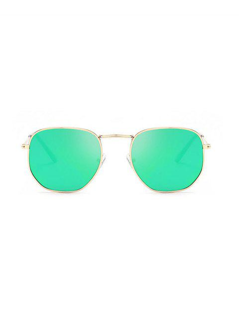 chic Metal Lightweight Square Sunglasses - MACAW BLUE GREEN  Mobile