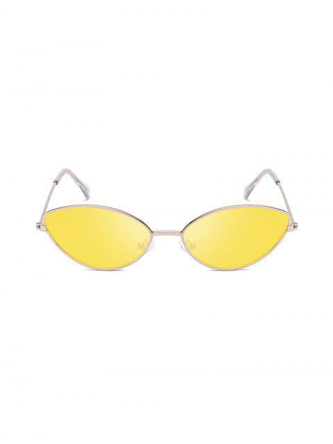Occhiali da Sole a Occhi di Gatto in Metallo con Protezione UV - Giallo  Mobile