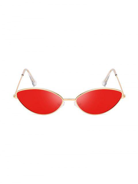 lady UV Protection Kitty Eye Metal Sunglasses - RED  Mobile