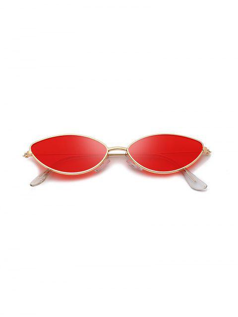 Occhiali da Sole a Occhi di Gatto in Metallo con Protezione UV - Rosso  Mobile