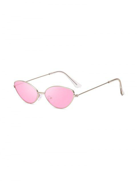 women's UV Protection Kitty Eye Metal Sunglasses - PIG PINK  Mobile