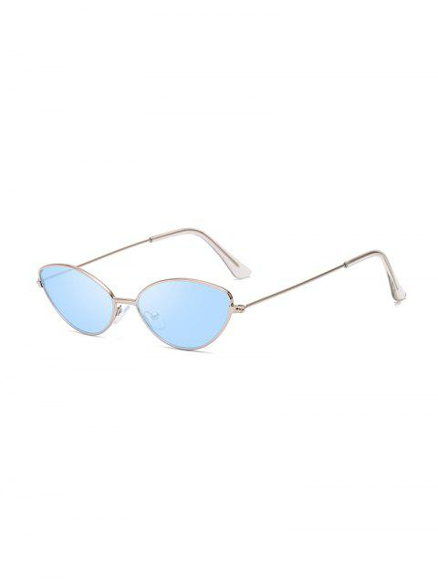 latest UV Protection Kitty Eye Metal Sunglasses - SEA BLUE  Mobile