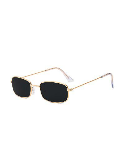 Rectangle Metal Lightweight Sunglasses - Black