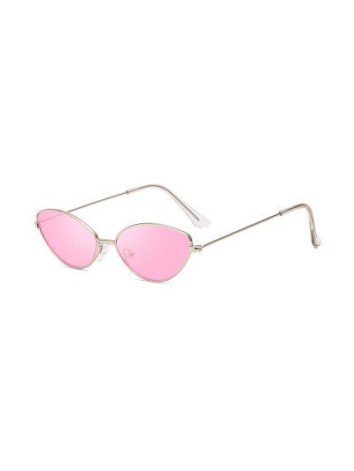 UV Protection Kitty Eye Metal Sunglasses - Pig Pink