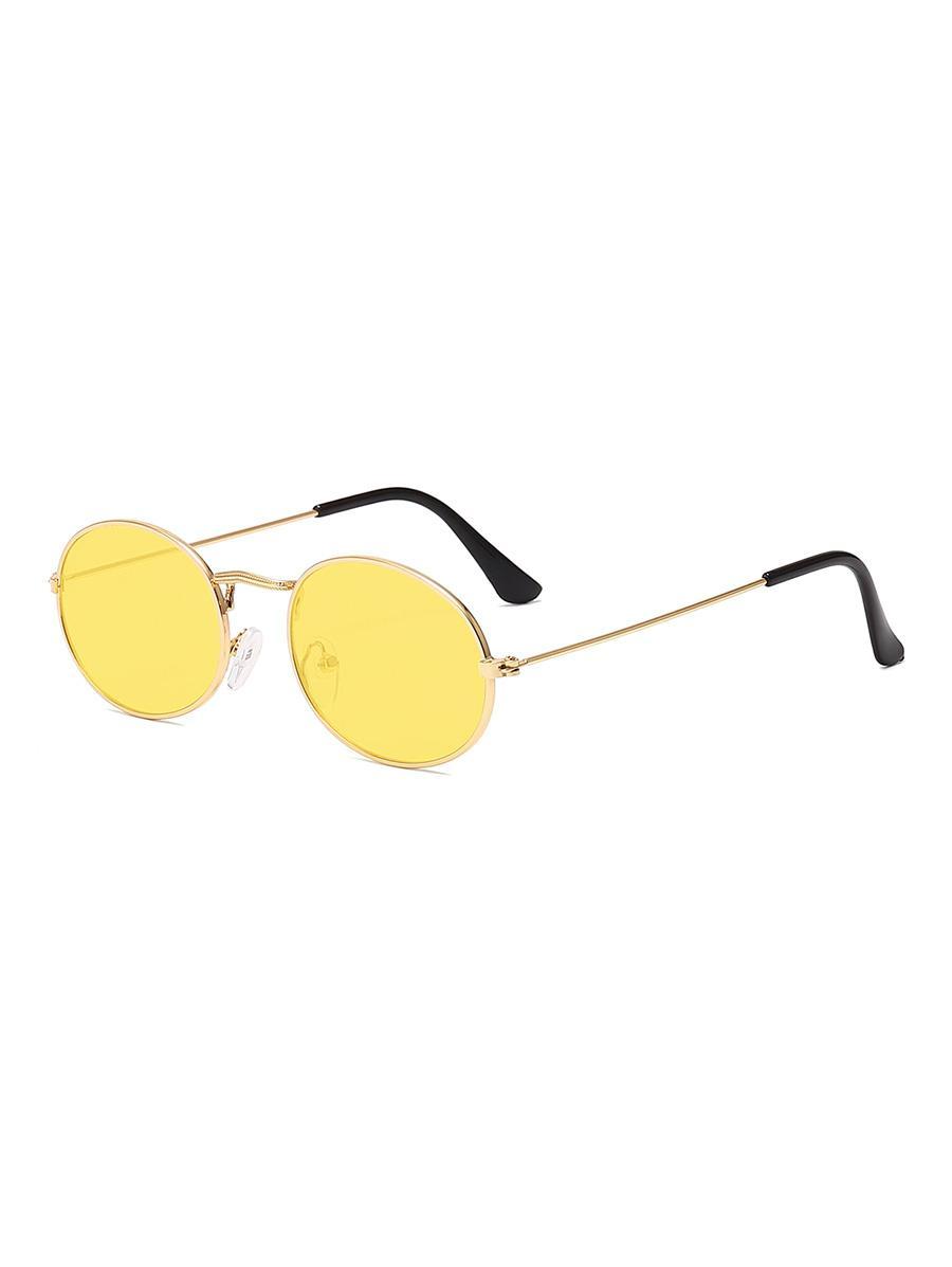 Metal Oval Anti UV Sunglasses