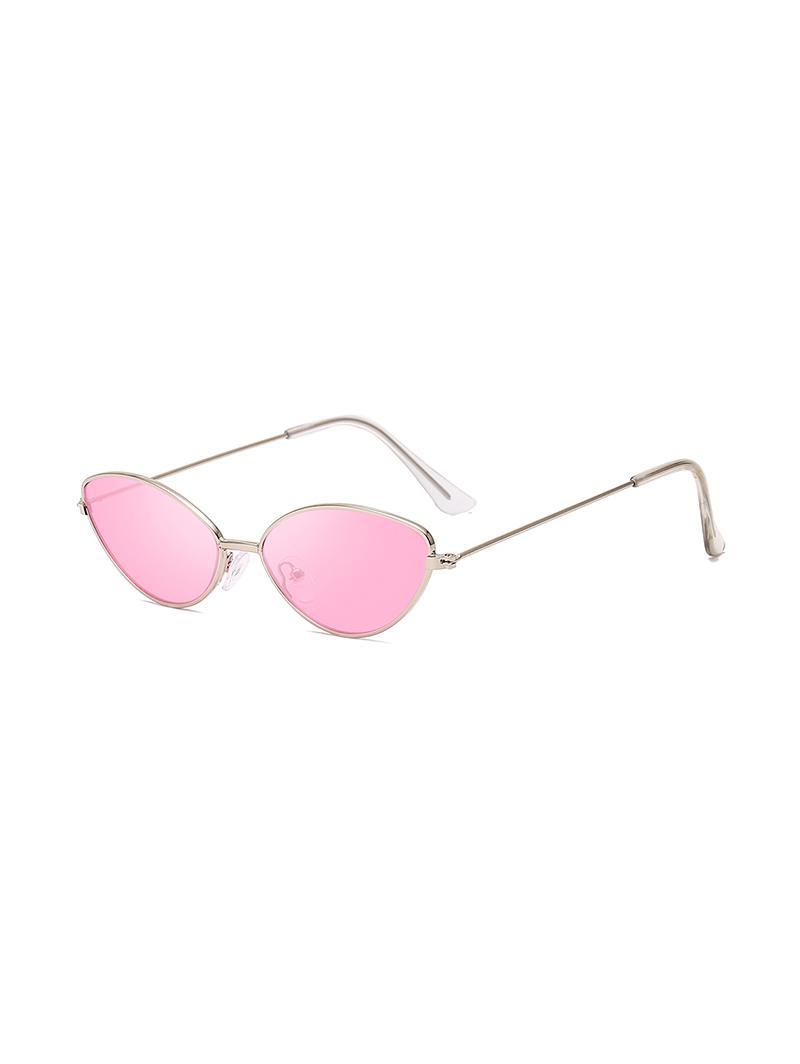 UV Protection Kitty Eye Metal Sunglasses