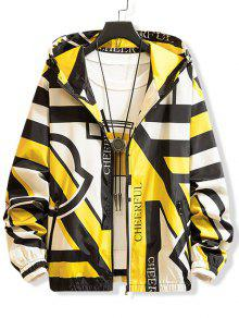 Letter Graphic Print Zip Up Jacket