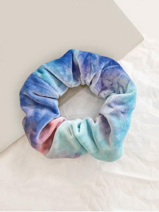 Chouchou Couleur Dégradée en Velours - Bleu Ciel