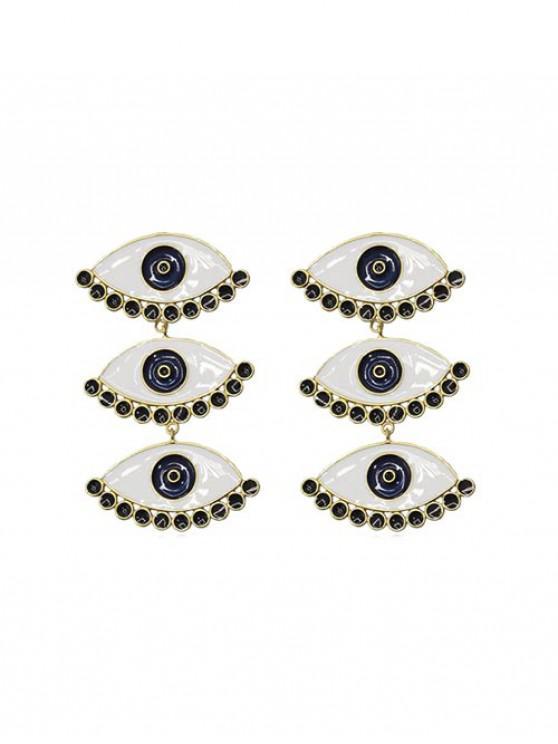 new Eyes Shape Stud Drop Earrings - GOLD