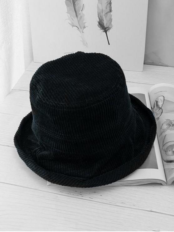 Chapeau Doux Plié en Velours - Noir