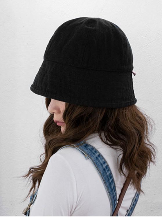 الرجعية القطن قبعة دلو - أسود