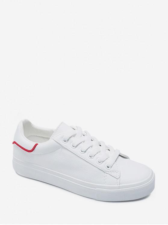 字母刺繡低幫休閒鞋 - 白色 歐盟40