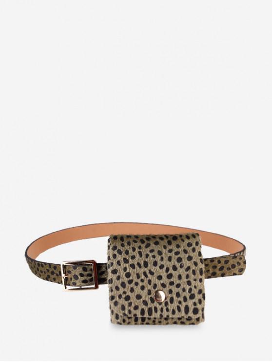 new Leopard Furry Waist Bag - GREEN