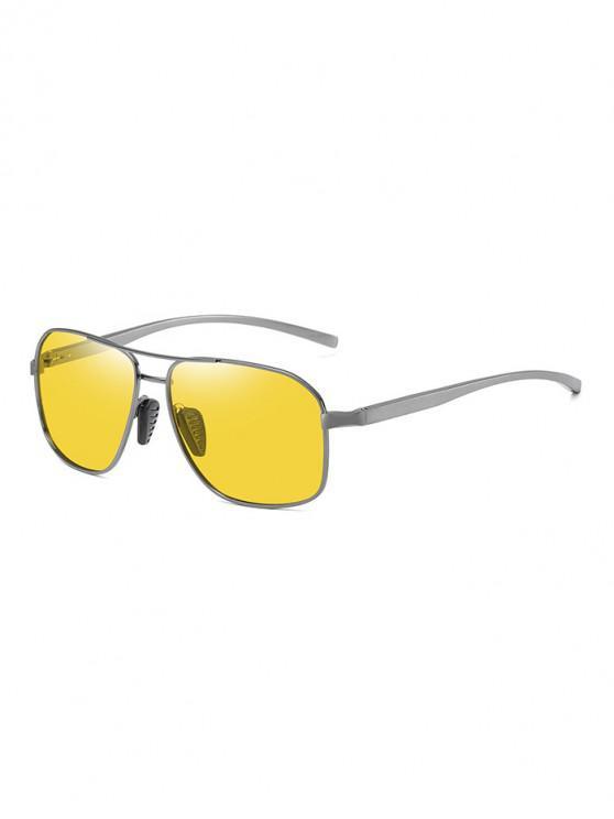 chic Driving Rectangle Polarized Sunglasses - YELLOW