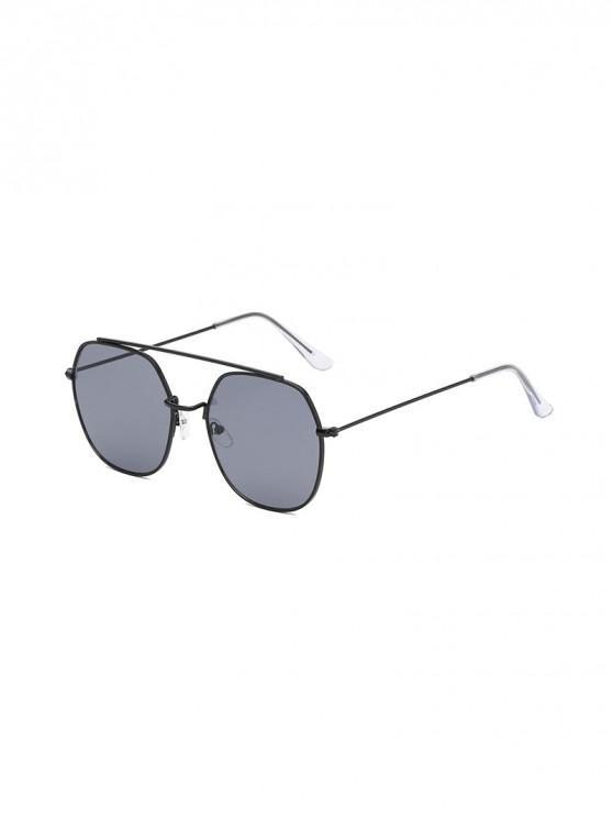 fashion Irregular Metal Lightweight Sunglasses - BLACK