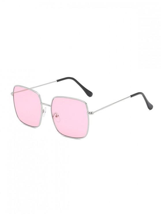 unique Metal Square Lightweight Sunglasses - PINK