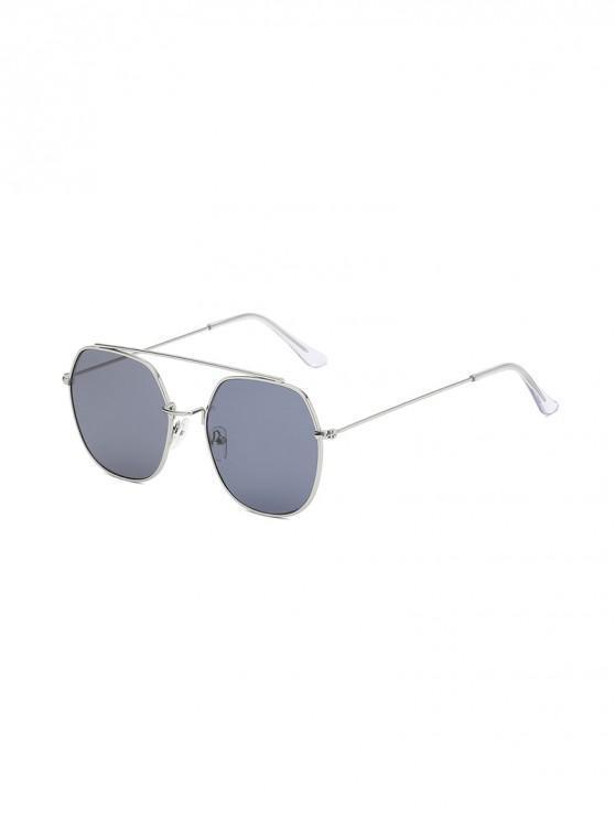 lady Irregular Metal Lightweight Sunglasses - CARBON GRAY