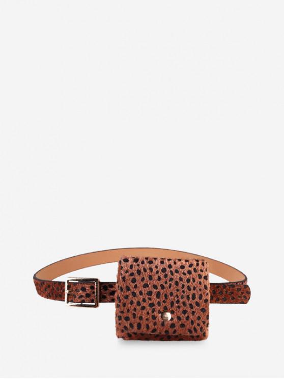 new Leopard Furry Waist Bag - CAMEL BROWN