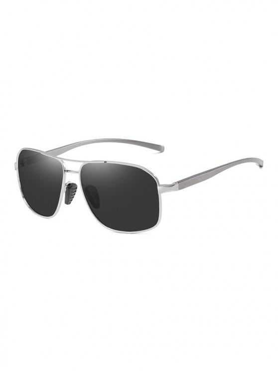 outfits Driving Rectangle Polarized Sunglasses - BLACK