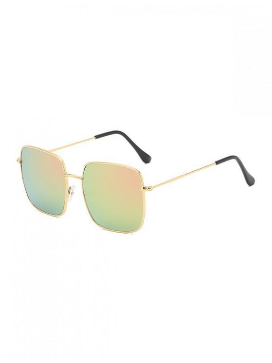 lady Metal Square Lightweight Sunglasses - PIG PINK