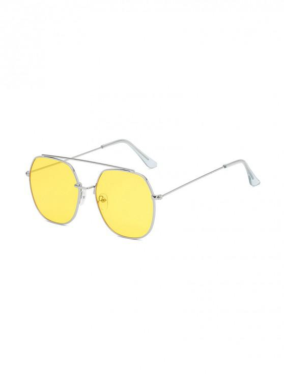 outfit Irregular Metal Lightweight Sunglasses - SUN YELLOW