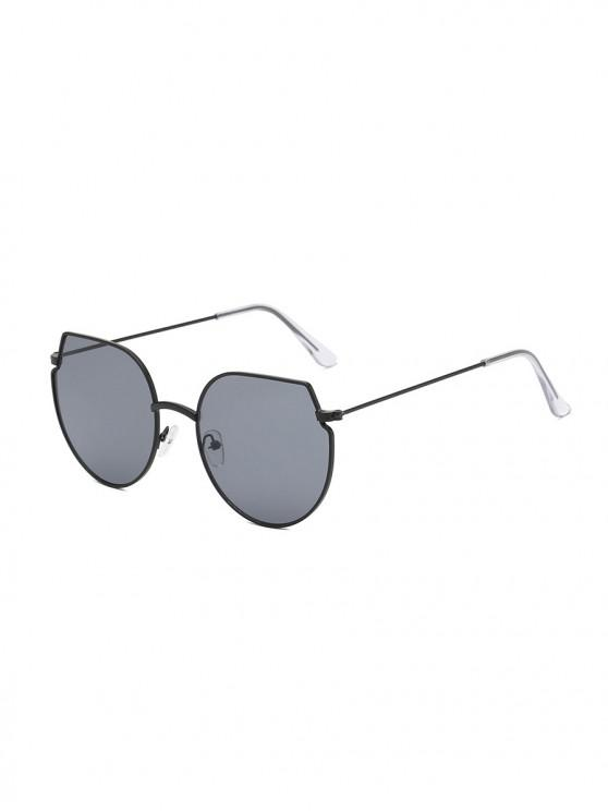 outfits Metal Irregular Round Oversized Sunglasses - TAUPE