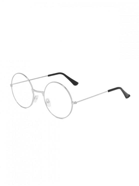 latest Metal Lightweight Round Plain Glasses - SILVER
