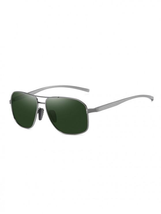 Gafas de Sol Rectangulares - Verde Oscuro