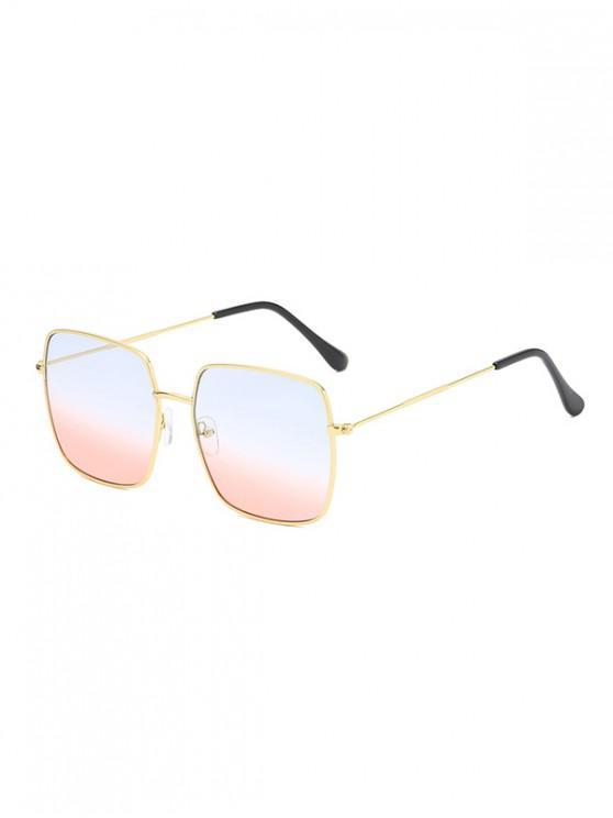 affordable Metal Square Lightweight Sunglasses - POWDER BLUE