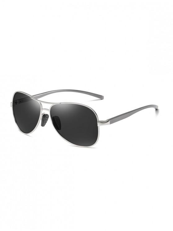 buy Metal Bar Polarized Pilot Sunglasses - DARK SLATE GREY