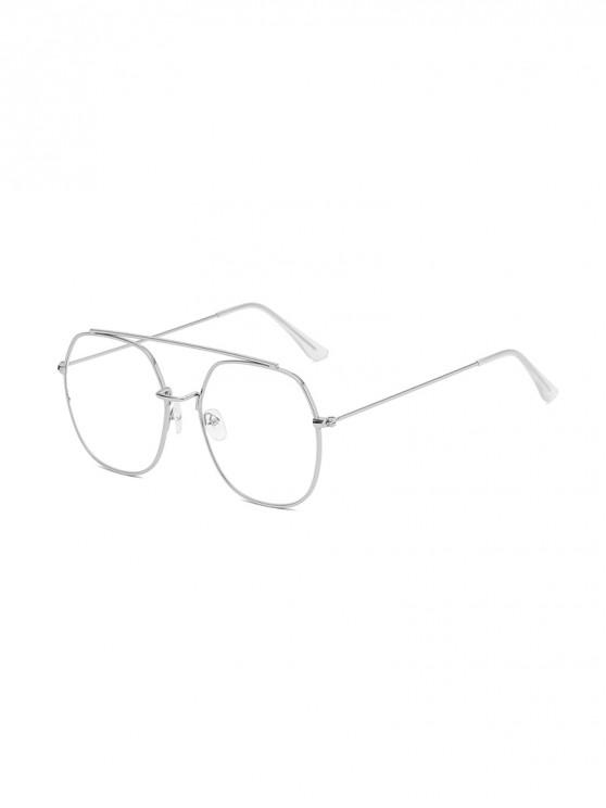 women Irregular Metal Lightweight Sunglasses - TRANSPARENT