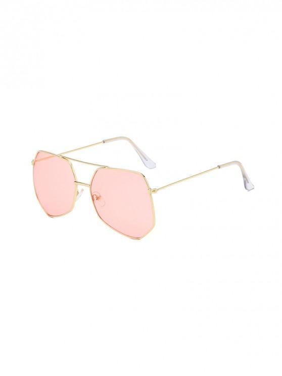โลหะไม่สม่ำเสมอบาร์ขนาดใหญ่แว่นกันแดด - สีชมพู