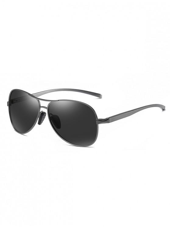 best Metal Bar Polarized Pilot Sunglasses - BLACK