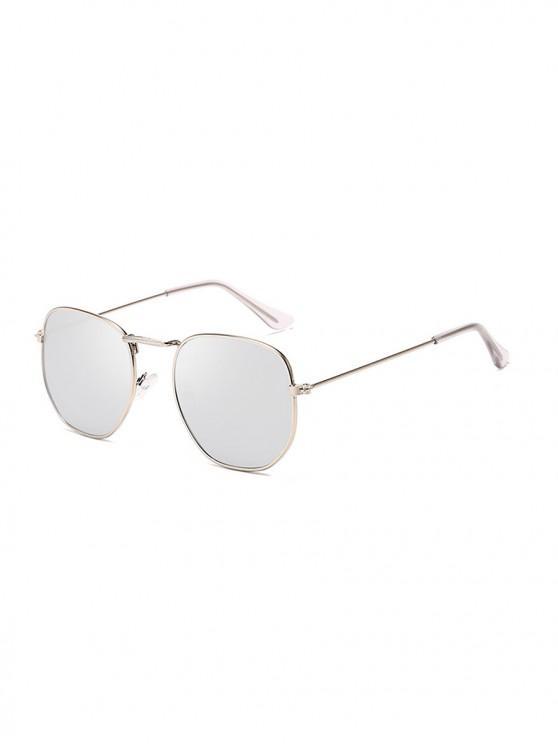 online Metal Square UV Protection Sunglasses - PLATINUM