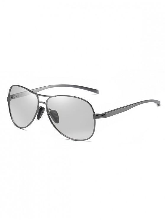 outfit Metal Bar Polarized Pilot Sunglasses - SILVER