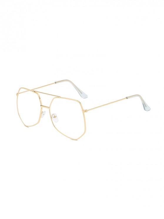 โลหะไม่สม่ำเสมอบาร์ขนาดใหญ่แว่นกันแดด - ทอง