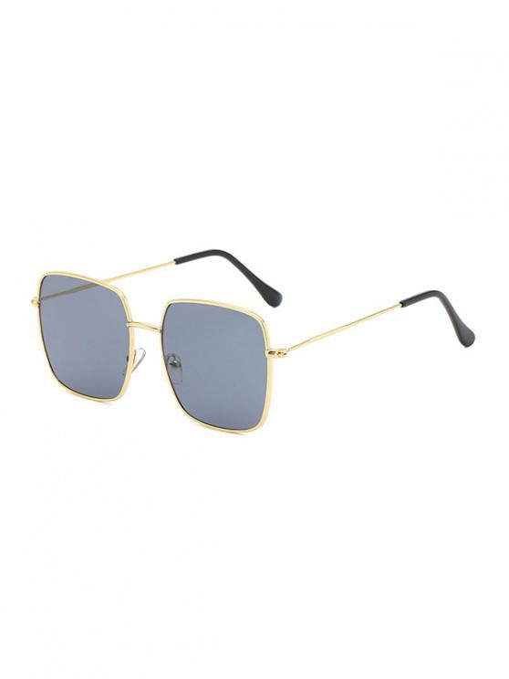 buy Metal Square Lightweight Sunglasses - BLACK