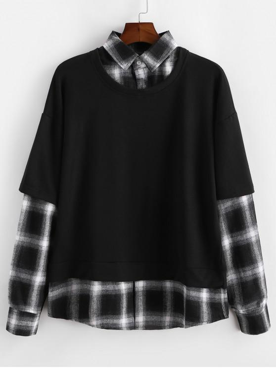 Carouri Matisirea Faux twinset Sweatshirt - Negru 2XL