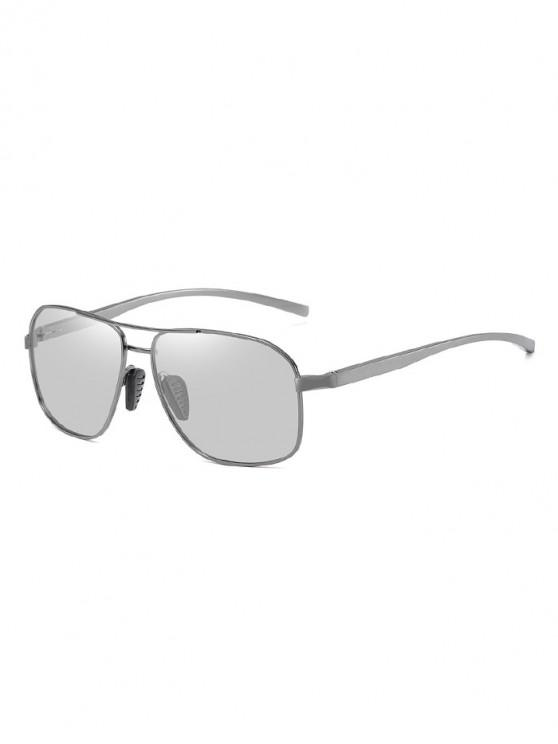 buy Driving Rectangle Polarized Sunglasses - SILVER