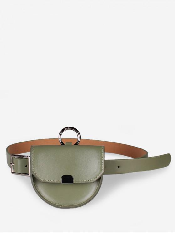 hot Semicircle Detachable Dual-use Waist Bags - GREEN