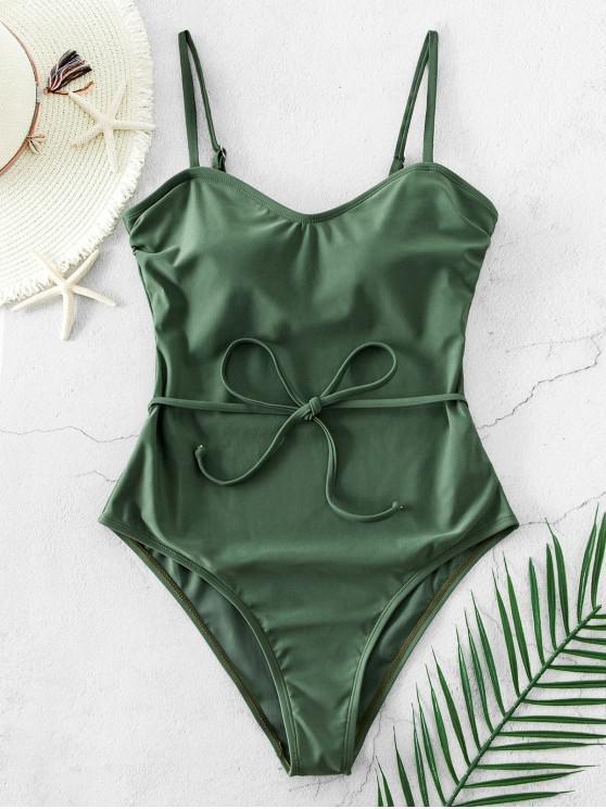 ZAFUL Maiô com Cinto e - Verde de Camuflagem S