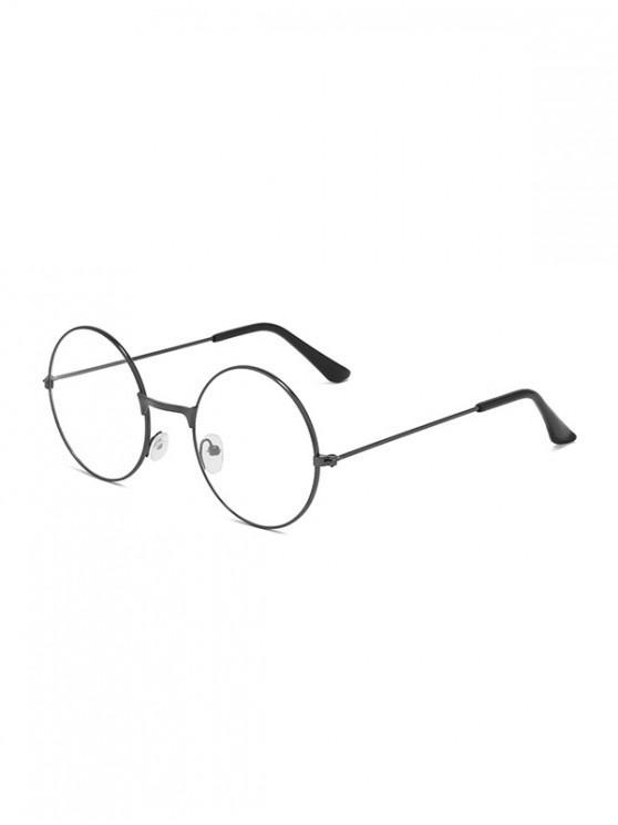 fashion Metal Lightweight Round Plain Glasses - GRAY CLOUD